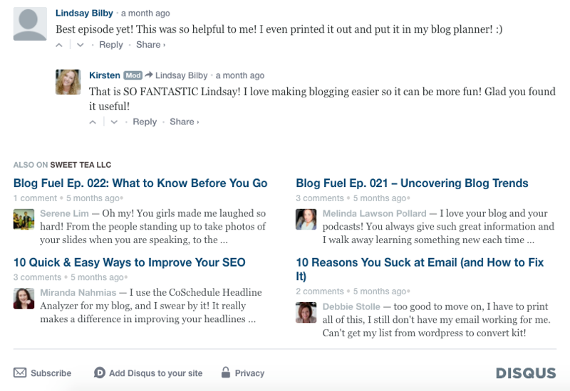 The Disqus comment system provides an interactive comment system but also a digest of other content that has received comments, telling readers it's worth checking out.
