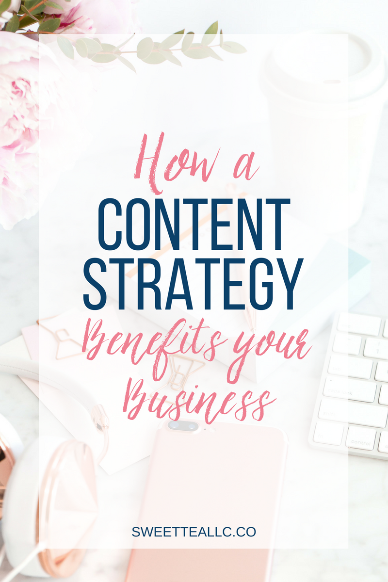 A content strategy not only means you can get away with creating LESS content, but you will end up being MORE VISIBLE online! You won't believe how a content strategy can benefit your business - read the full post to learn more!