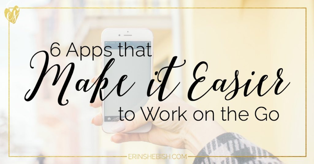 As a business owner there are times that you'll have to work on the go. Luckily, working on the go is easier than ever with these apps!