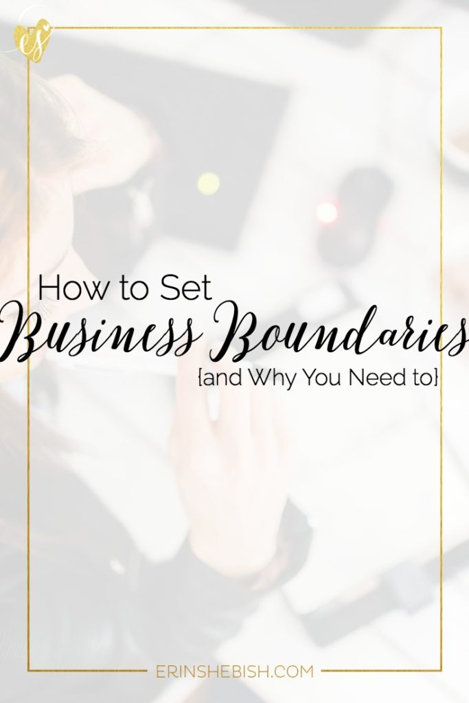 Creating boundaries in your business can feel like a challenge. Even icky at times! But the truth is you need boundaries to create calm and care!