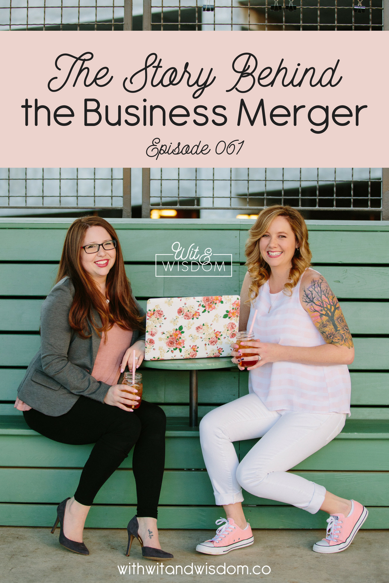 Wit + Wisdom is the beautiful combination of two small businesses, ErinShebish.com and Sweet Tea, LLC. In addition to rebranding our podcast (formerly Blog Fuel), we combined our businesses and had to merge EVERYTHING! This is the story of the many things that went into combining our businesses!