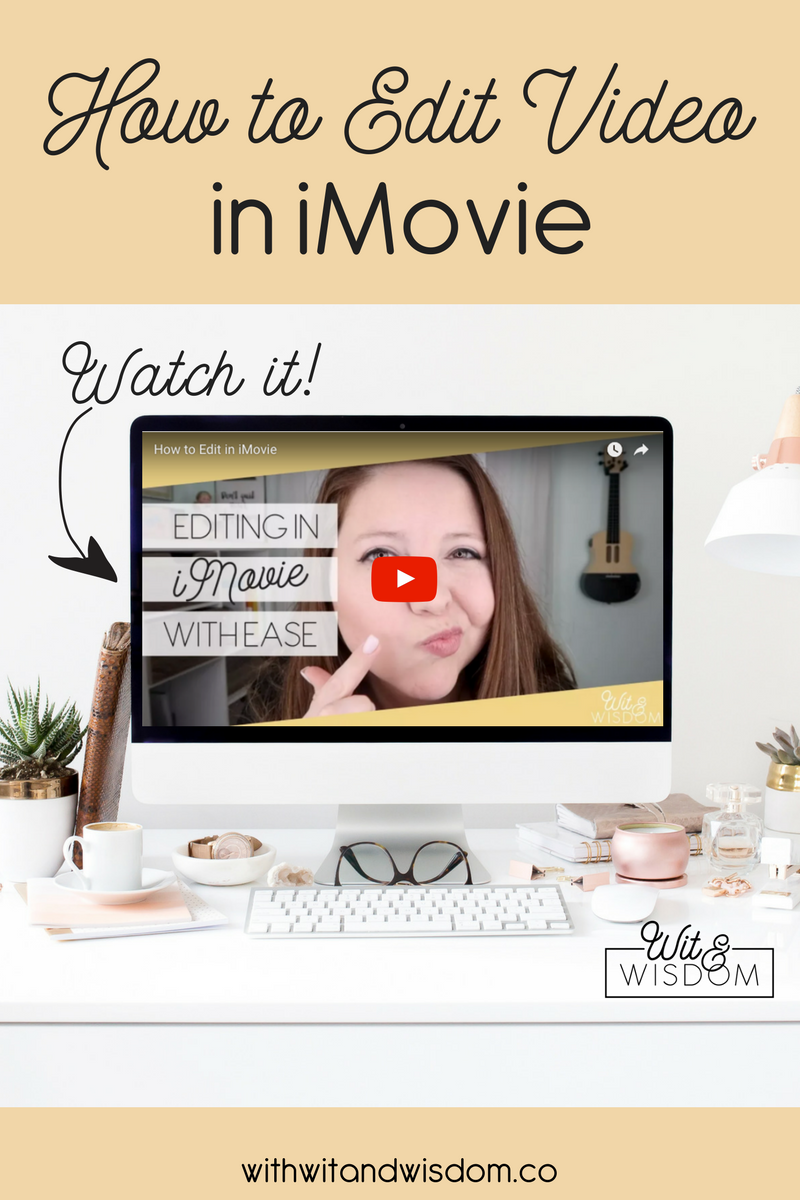 You've filmed the video. Now it's time to put the finishing touches on it! And guess what? You can polish that video up without much trouble by editing in iMovie!