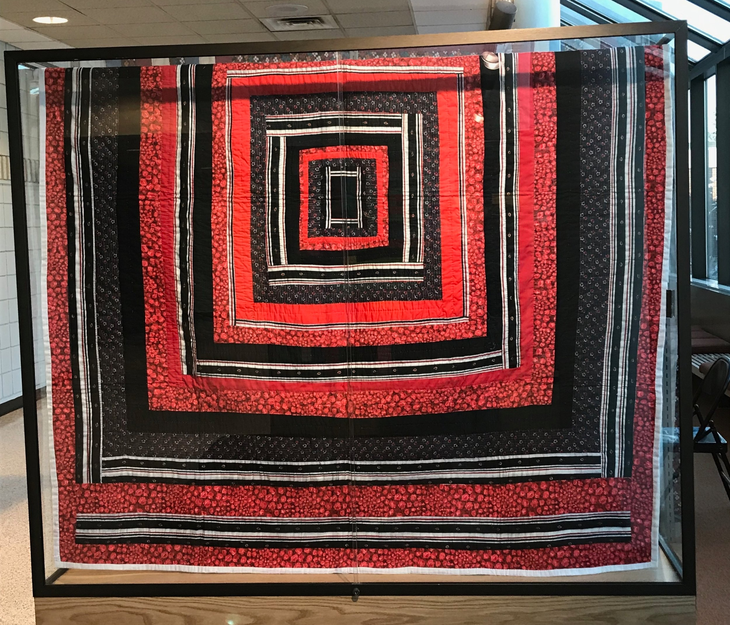 A beautiful Gee's Bend quilt currently on exhibition at Madonna University, Livonia MI
