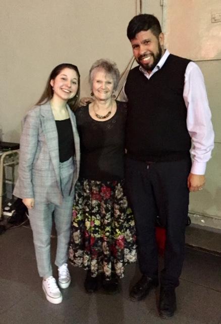 Junto a Fernanda Magaña y José María Tejedor