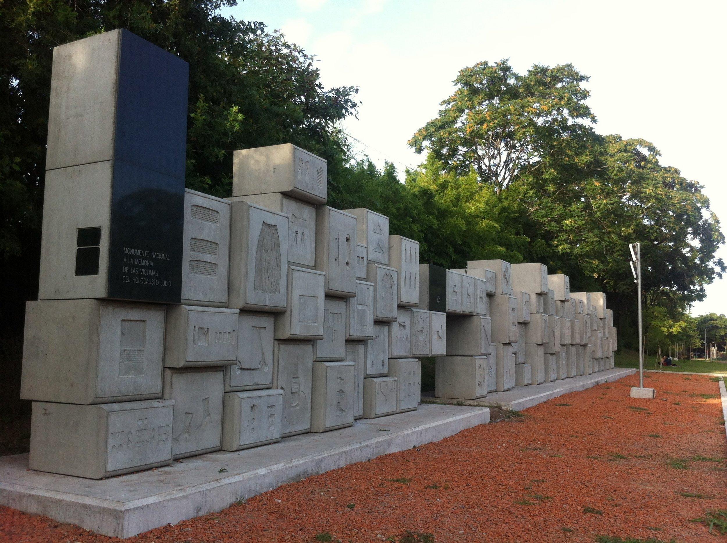 El  Monumento Nacional a la Memoria de las Víctimas del Holocausto , de los arquitectos Gustavo Nielsen y Sebastián Marsiglia, se encuentra emplazado en la Plaza de la Shoá, en la intersección de las avenidas  del Libertador  e Intendente Bullrich, en la  Ciudad de Buenos Aires ,  Argentina .