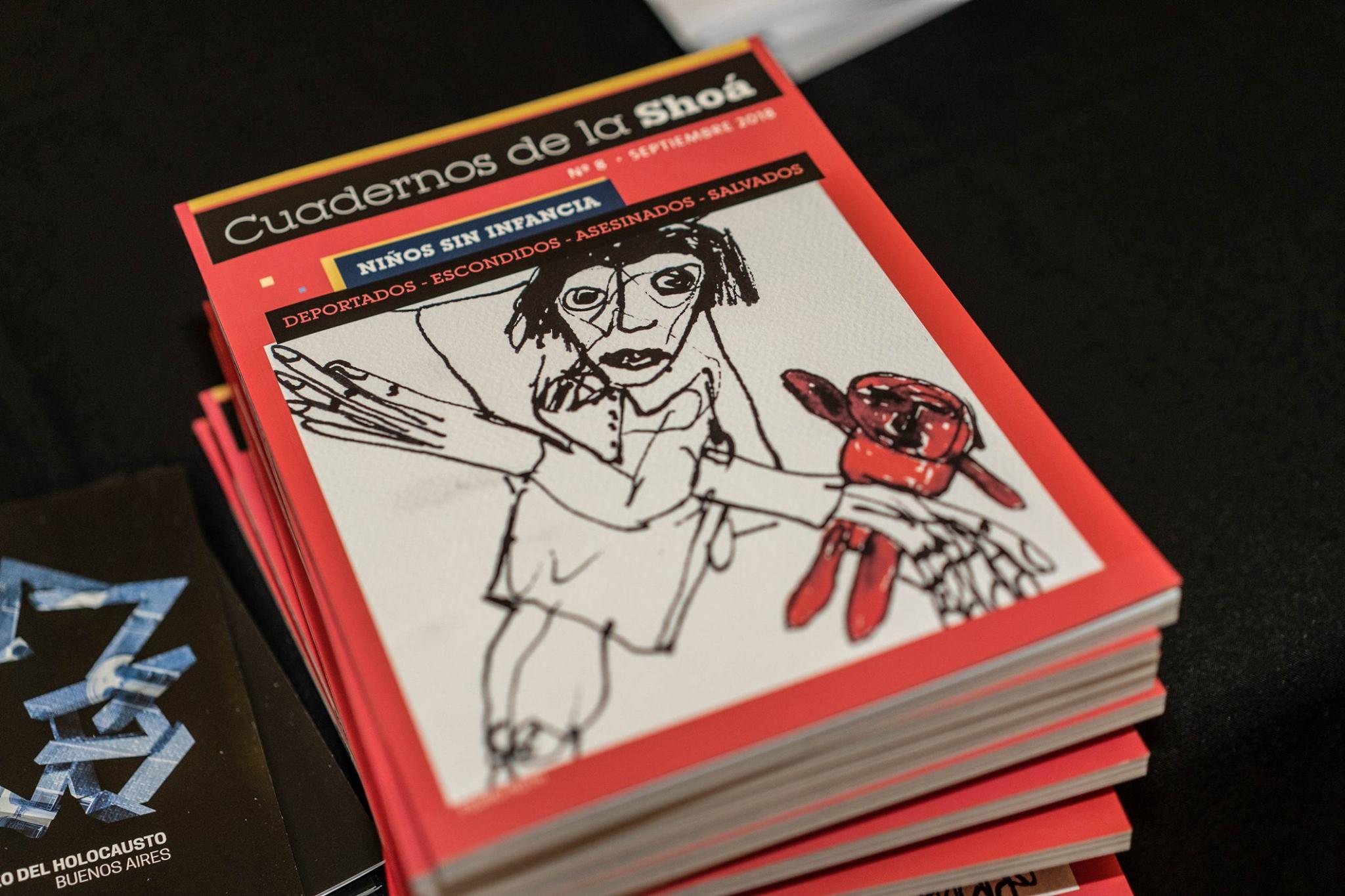 Tapa, contratapa y dibujos interiores del genial Pedro Roth, niño de la Shoá.