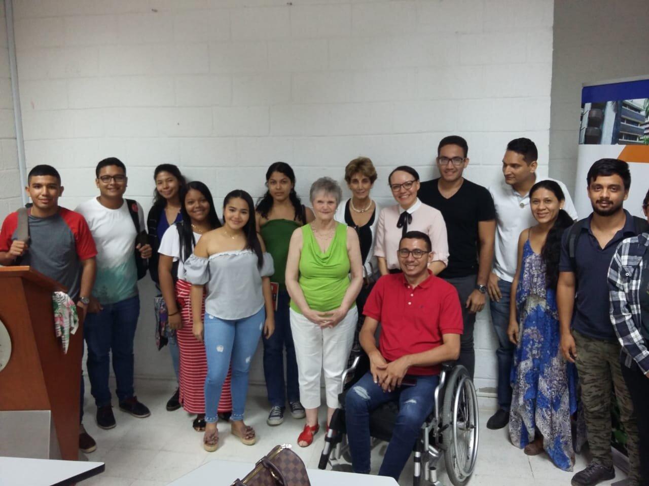 Algunos asistentes en la Universidad del Atlántico