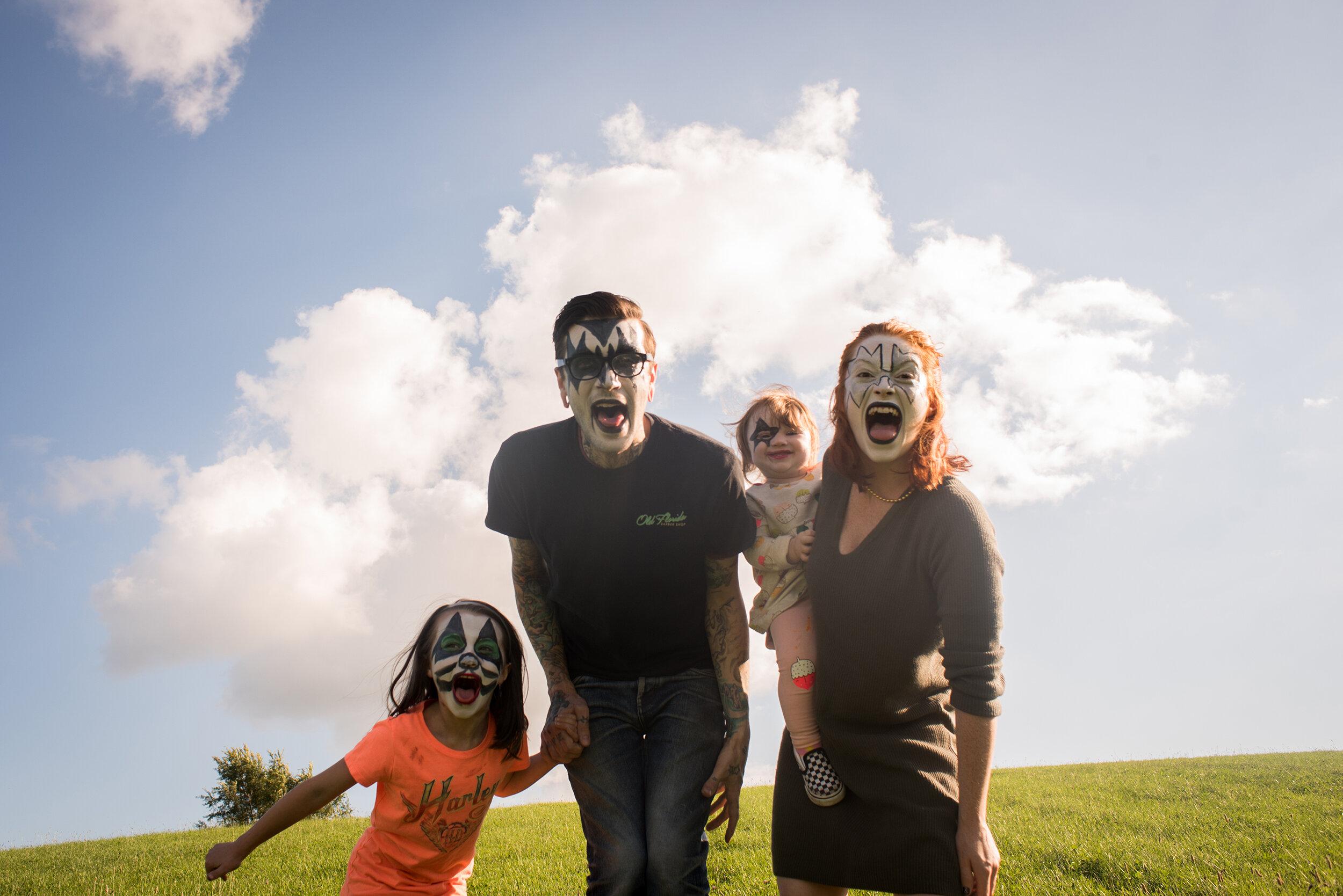 KISS Makeup Family Photos