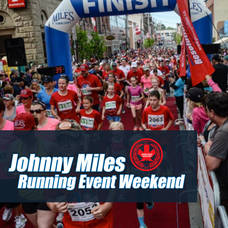 For 43 years the Johnny Miles Running Event Weekend has offered mainly flat, scenic loop course of various distances with a finish line experience you will never forget.