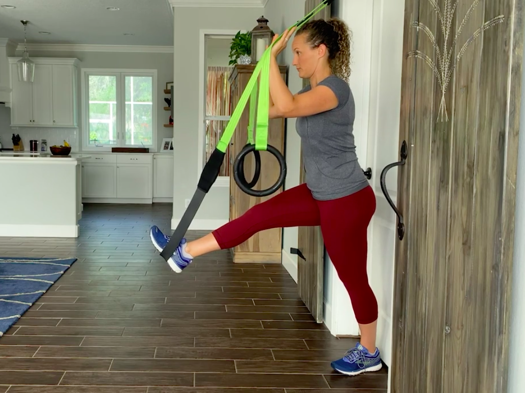 hamstring stretch with primal 7 for hip pain relief, jenna ellis PT