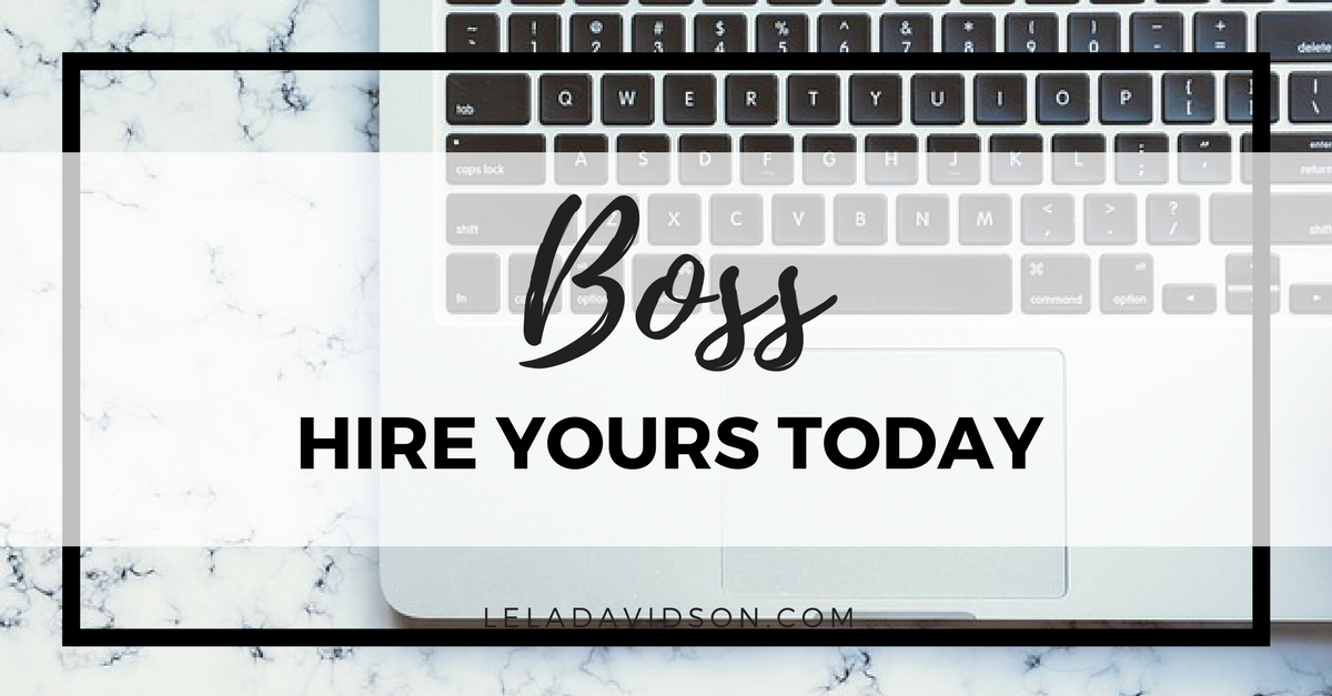 Want to grow your small business, hire a boss, Lela Davidson