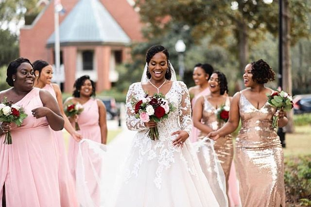 Now let's talk about Jerri's bridal party. From their party energy to their love for the Bride, they were bridal goals! We truly enjoyed every second of glamming them up! #HouseofJune  Makeup: @houseofjune Makeup Assistants: @crazy_curlz_ @que_liinda