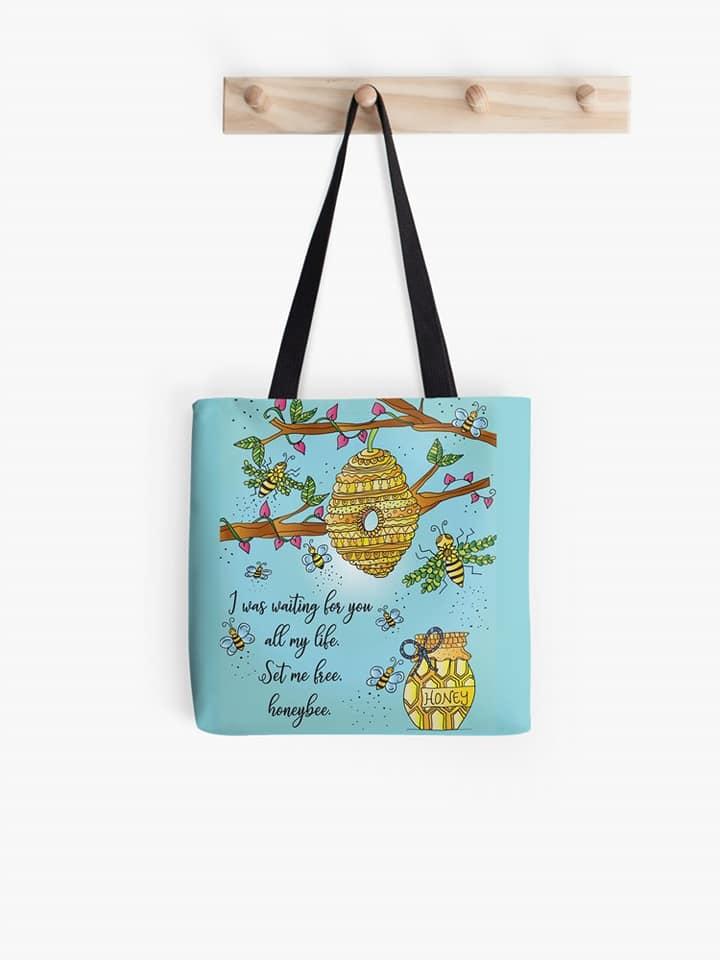 Josiah's Honeybee Tote Bag