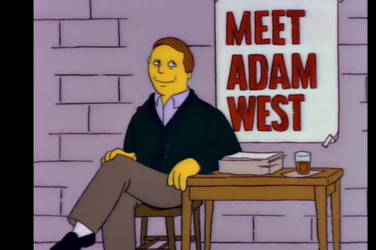 adam west simpsos