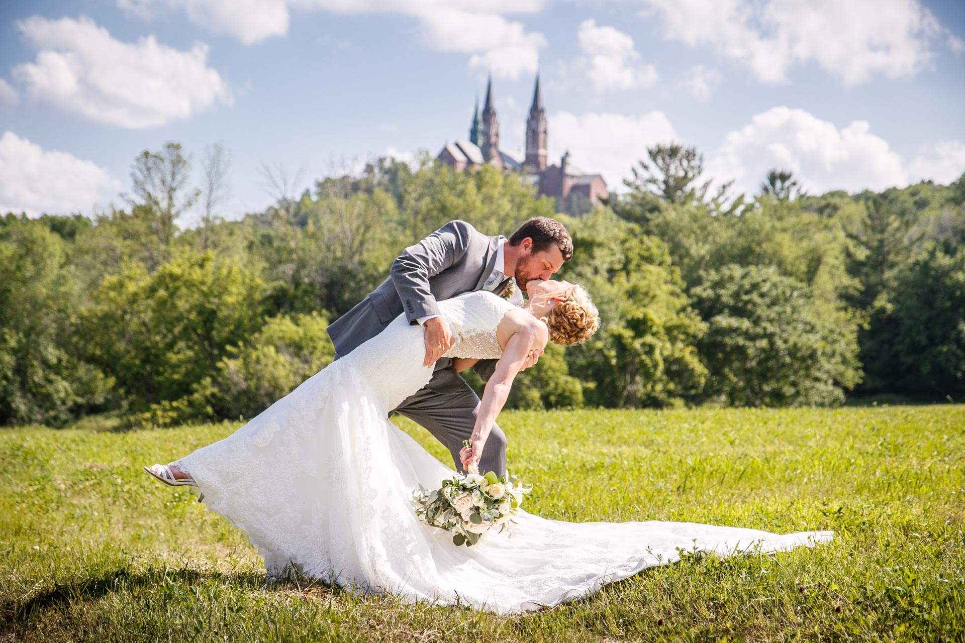 Diana and Adam were wed at St. Joan of Arc Church with a reception at Terrace 167 in Richfield, Wisconsin. Adam Shea Photography captured the event.