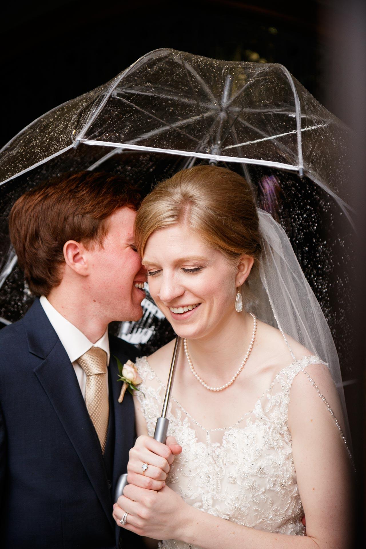 Bride and Groom   Rainy Day