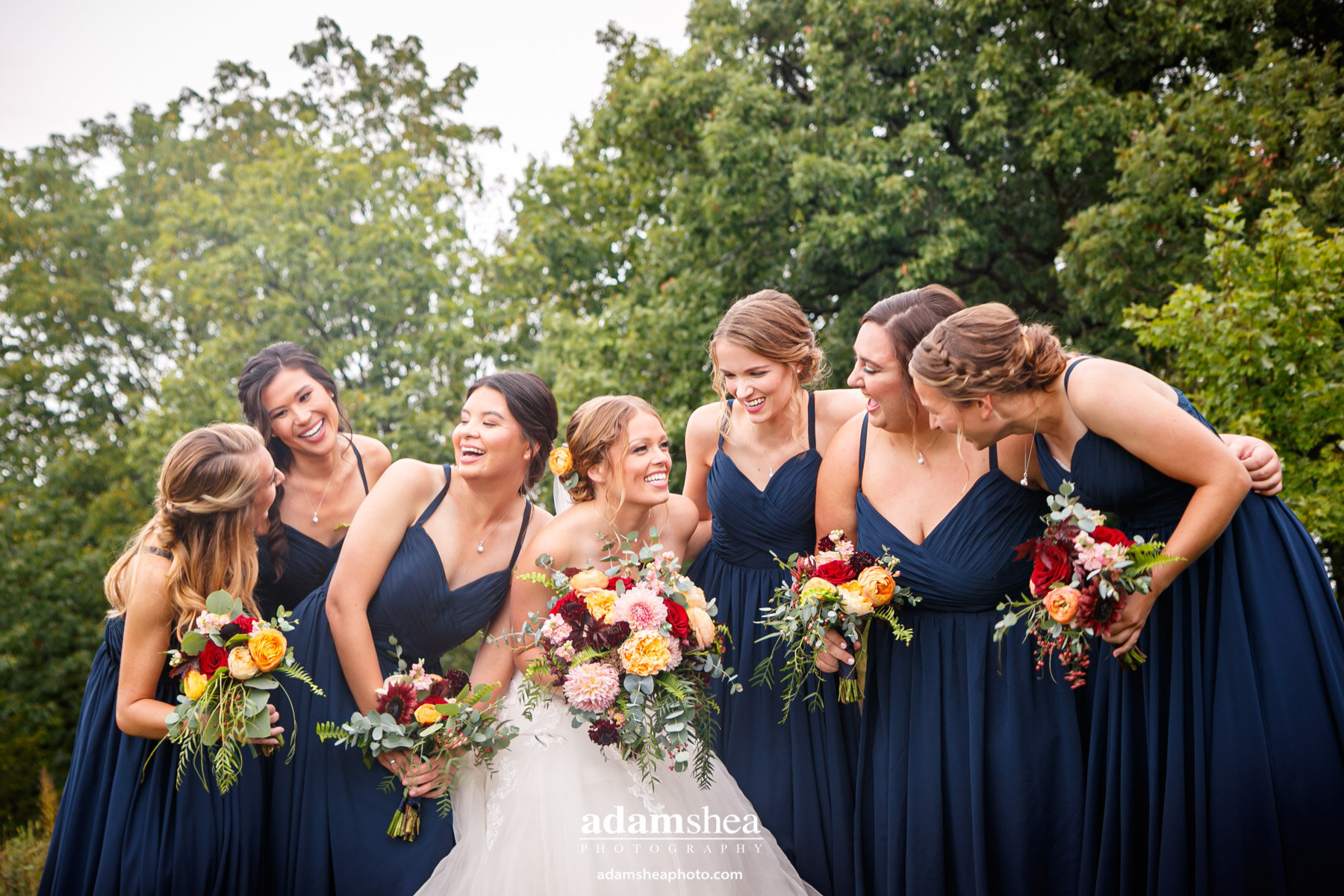 Gorgeous Wedding Fields at the Reserve - Stoughton WI - Adam Shea Photography - Bridesmaids