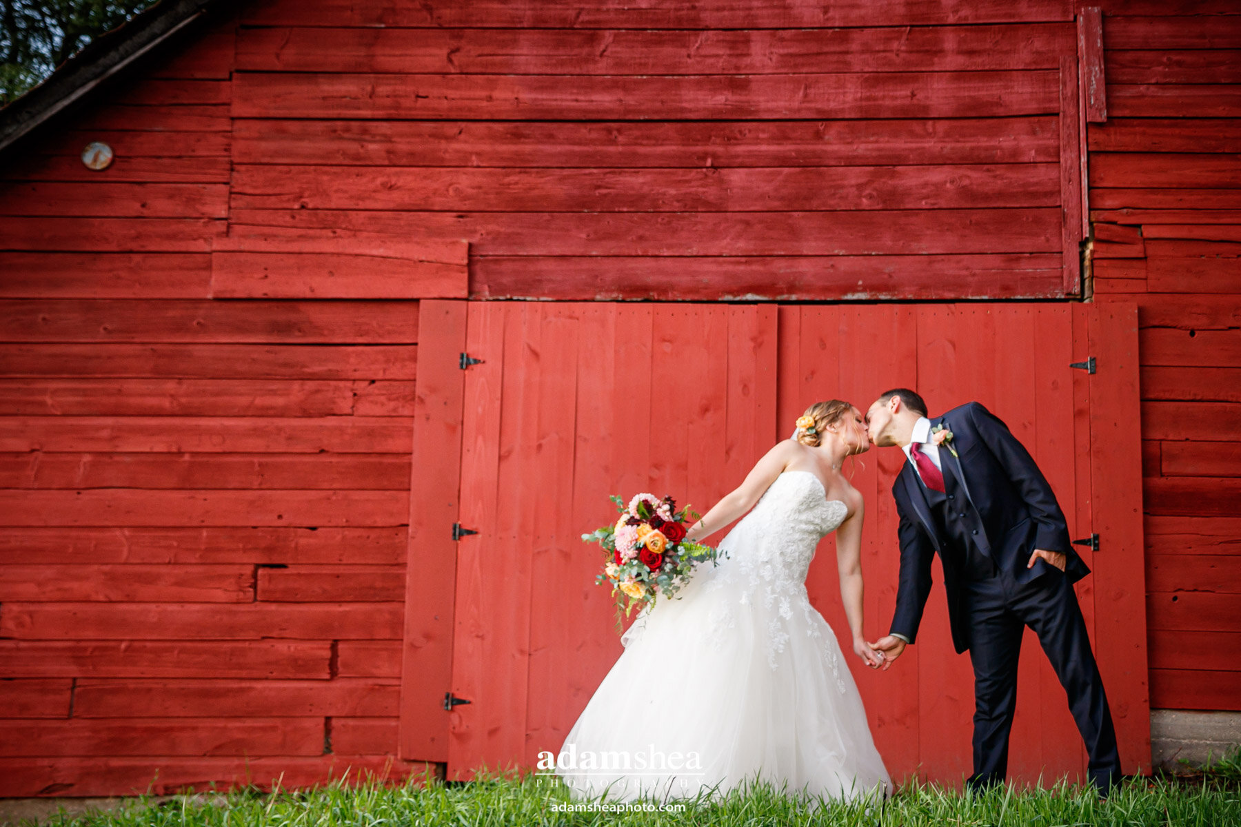 Gorgeous Wedding Fields at the Reserve - Stoughton WI - Adam Shea Photography - Red Barn