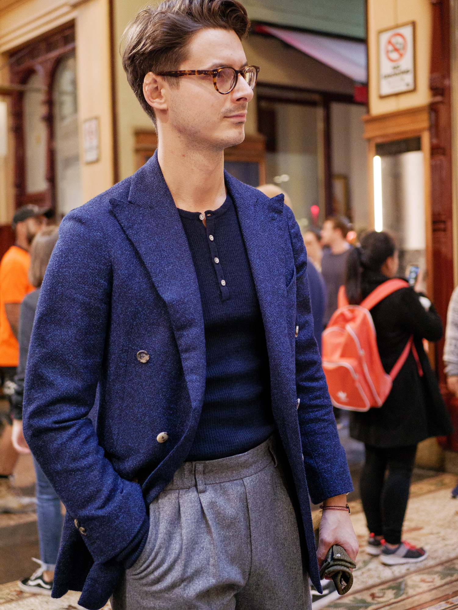 Calder Jacket, Robinson Man Henley, Chad Prom Trousers