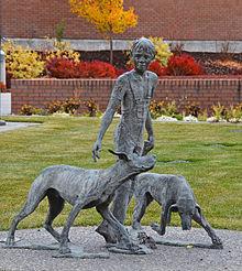 Statue at the Public Library in Idaho Falls, Idaho
