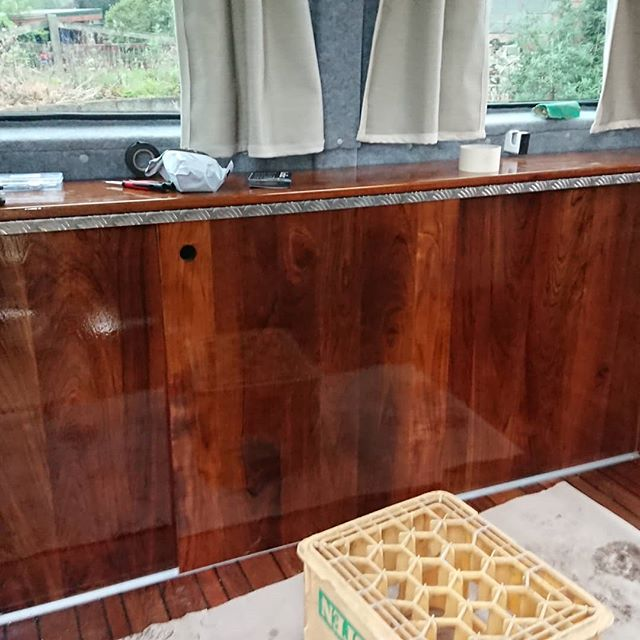 Work in progress!  #reclaimedwood #reclaimed #reclaimedteak #teak #camperrenovation  #campervan #campervanconversion #re4med #reclaimedmaterials #yacht #bespoke