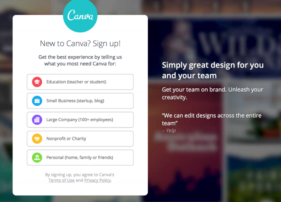 Canva homepage displaying design options suited to your specific needs.