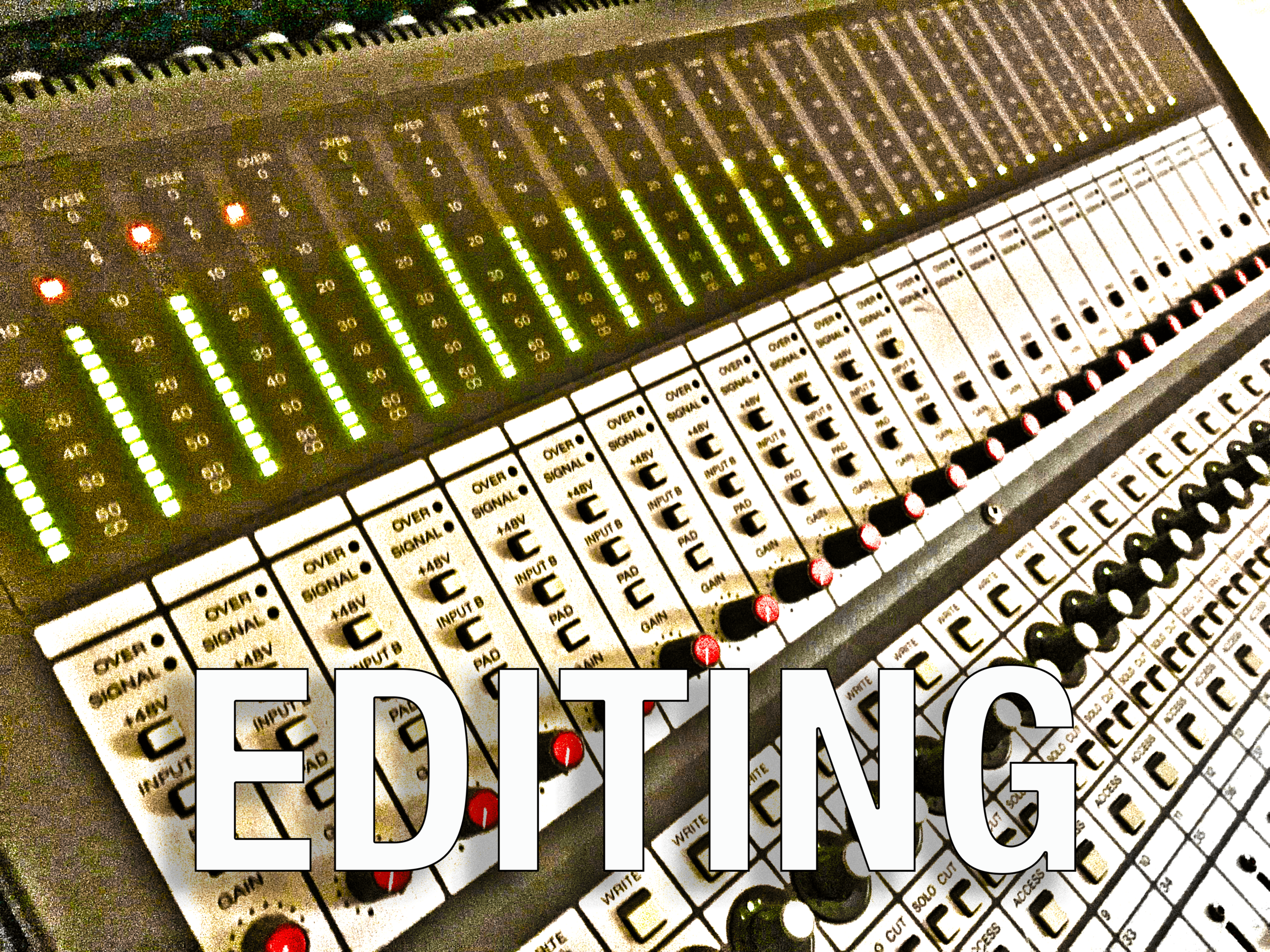 - I can take your tracks - whether or not they were recorded here at Hub City Recording - and edit them in order to prepare them for mixing. I can also create