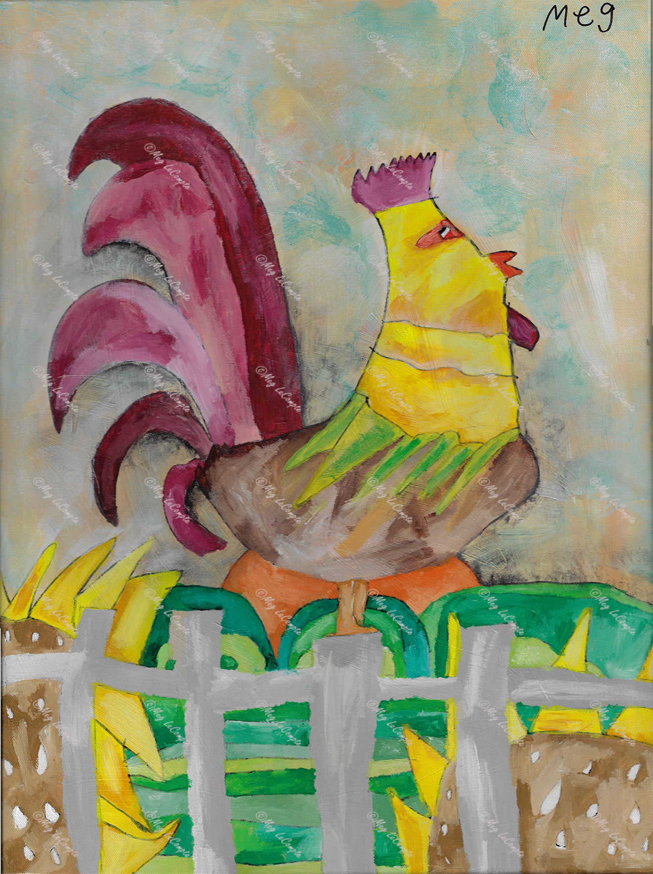 Rooster in the Morning