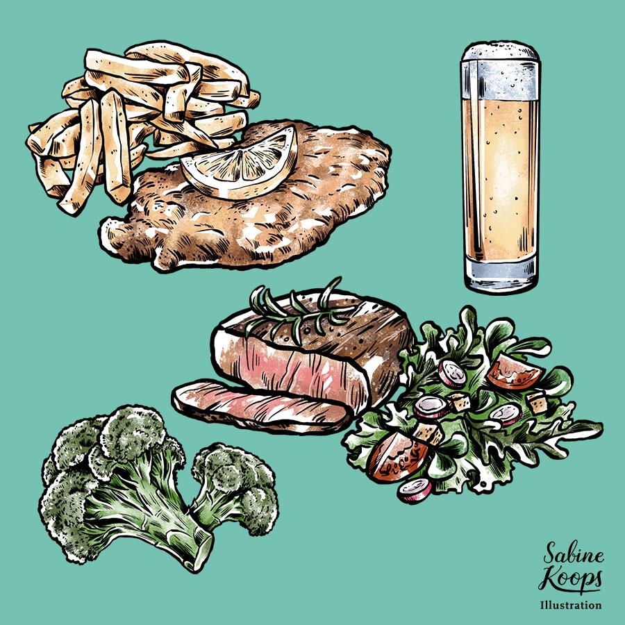 Food porn! Und Brokkoli.