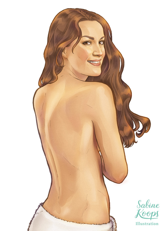 Sabine_Koops_Illustration_Illustrator_Werbung_advertisement_Physiotherm_keyvisual_Portrait_Frau_Ruecken_Wellness_Gesundheit.jpg