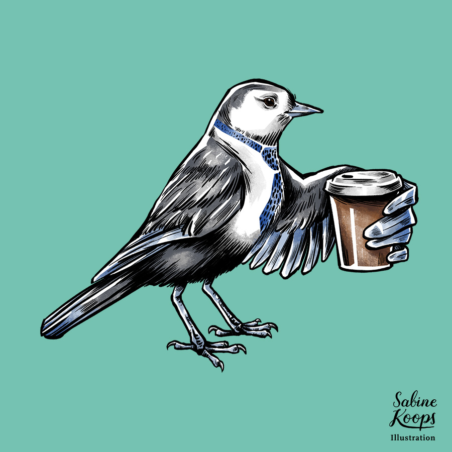 Sabine_Koops_Illustration_Illustrator_Werbung_advertising_1_frueher_Vogel_early_bird_work_arbeit_Kaffee_coffee_morning.jpg