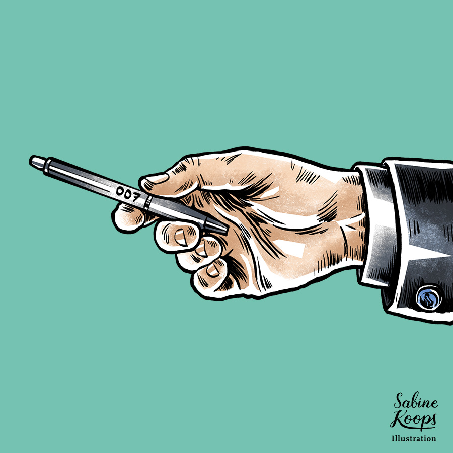 Sabine_Koops_Illustration_Illustrator_Werbung_advertising_1_Hand_Stift_pen_007_james_bond_Anzug.jpg