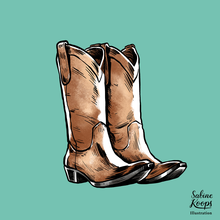 Sabine_Koops_Illustration_Illustrator_Werbung_advertising_1_Klamotten_Kleider_fashion_Schuhe_boots_Cowboy_Stiefel_shoes.jpg