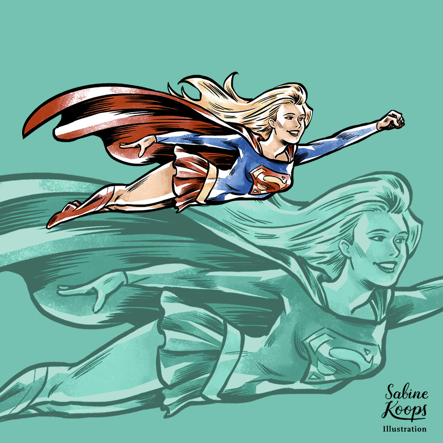 Sabine_Koops_Illustration_Illustrator_Werbung_advertising_1_Superhelden_hero_super_Superman_Superwoman_supergirl_heroine_fly_Flug.jpg
