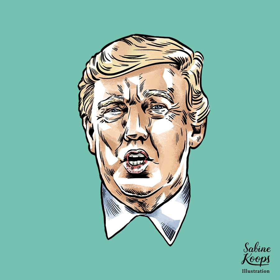 Sabine_Koops_Illustration_Illustrator_Werbung_advertising_1_USA_Amerika_Trump_Praesident_president_face_Portrait_Karikatur.jpg