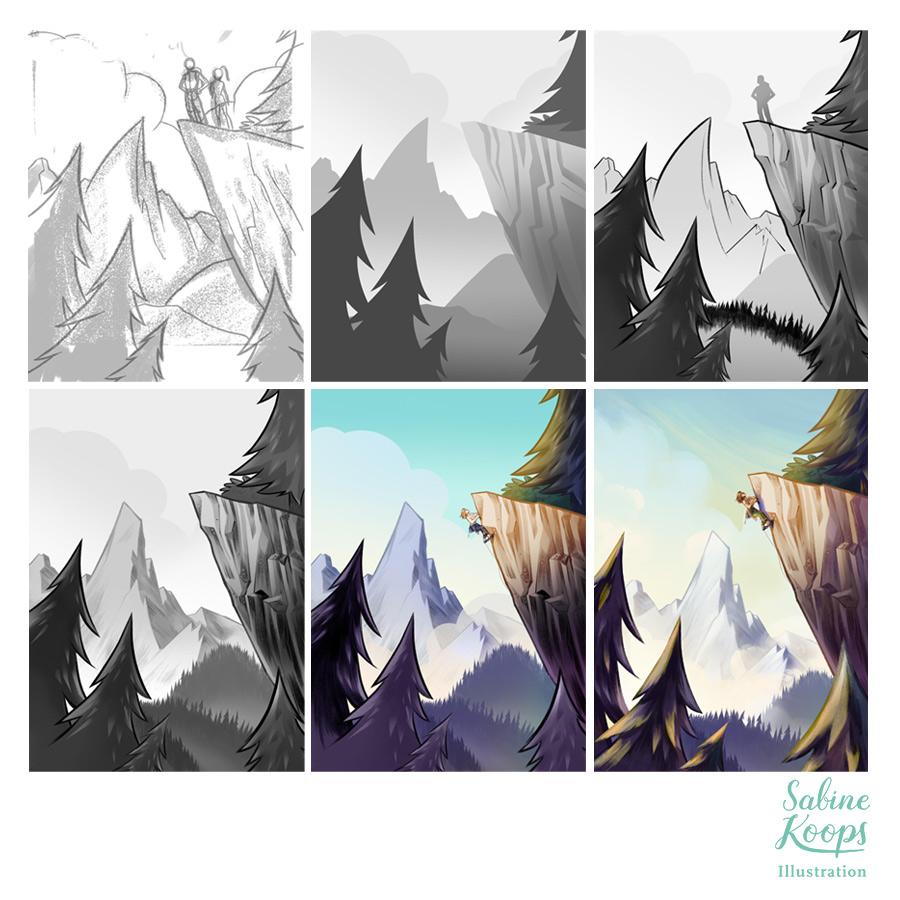 Sabine_Koops_Illustratorin_Landschaft_landscape_Berge_Mountains_Tirol_Klettern_Climbing_Skizzen.jpg