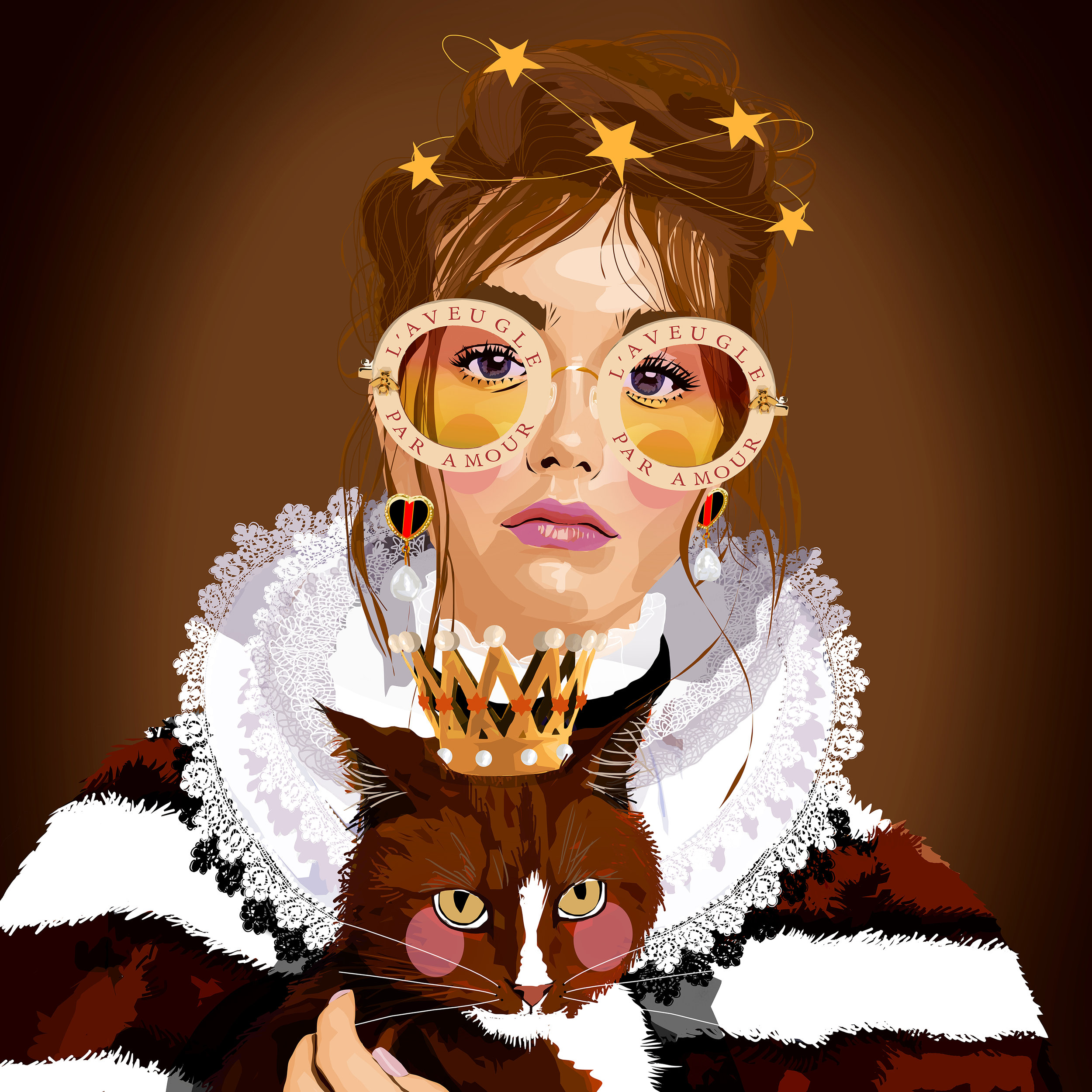Gucci Girl Portrait made for decoration of an office space