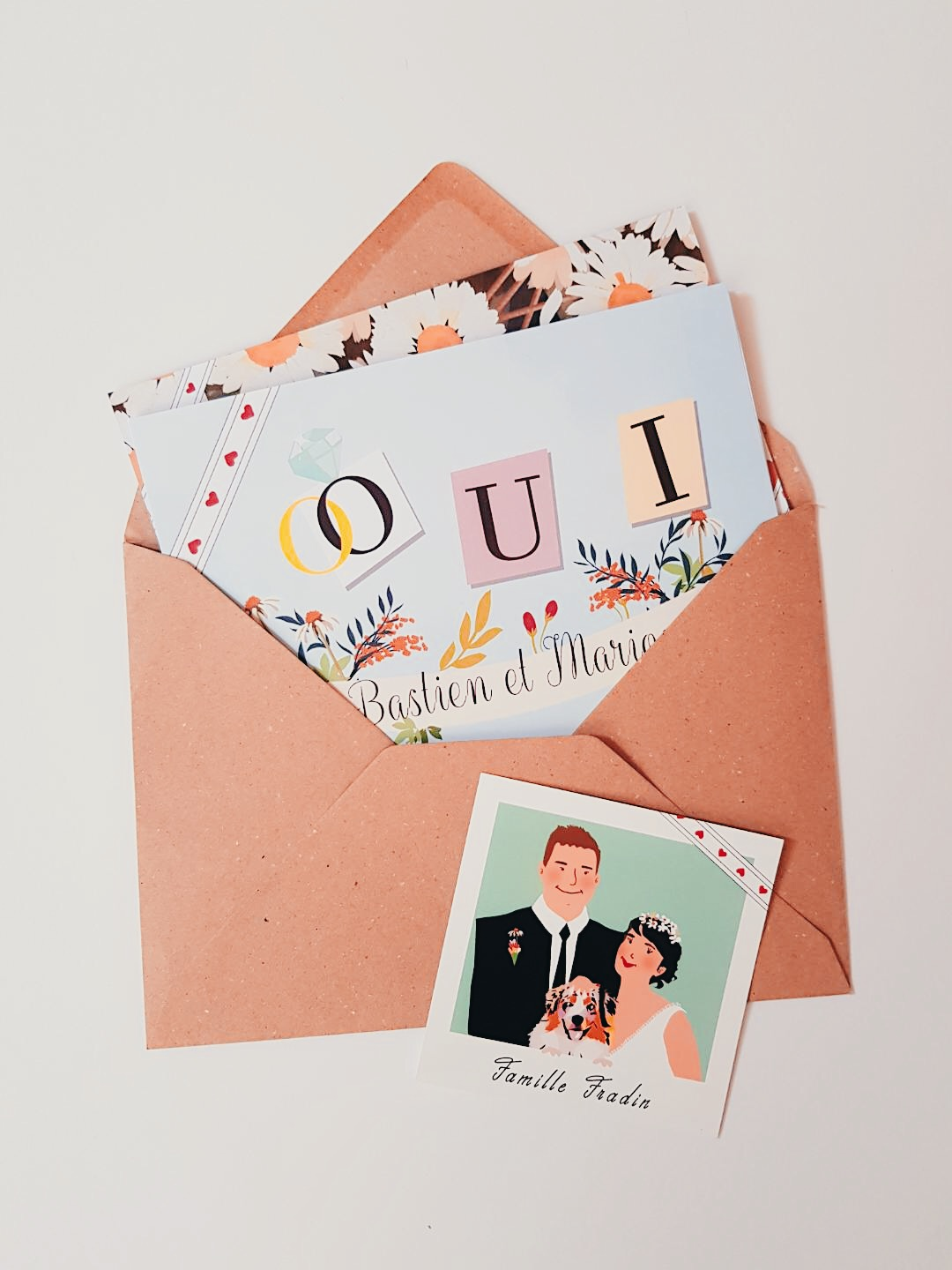 Wedding invitation note, Reply Slip and envelop
