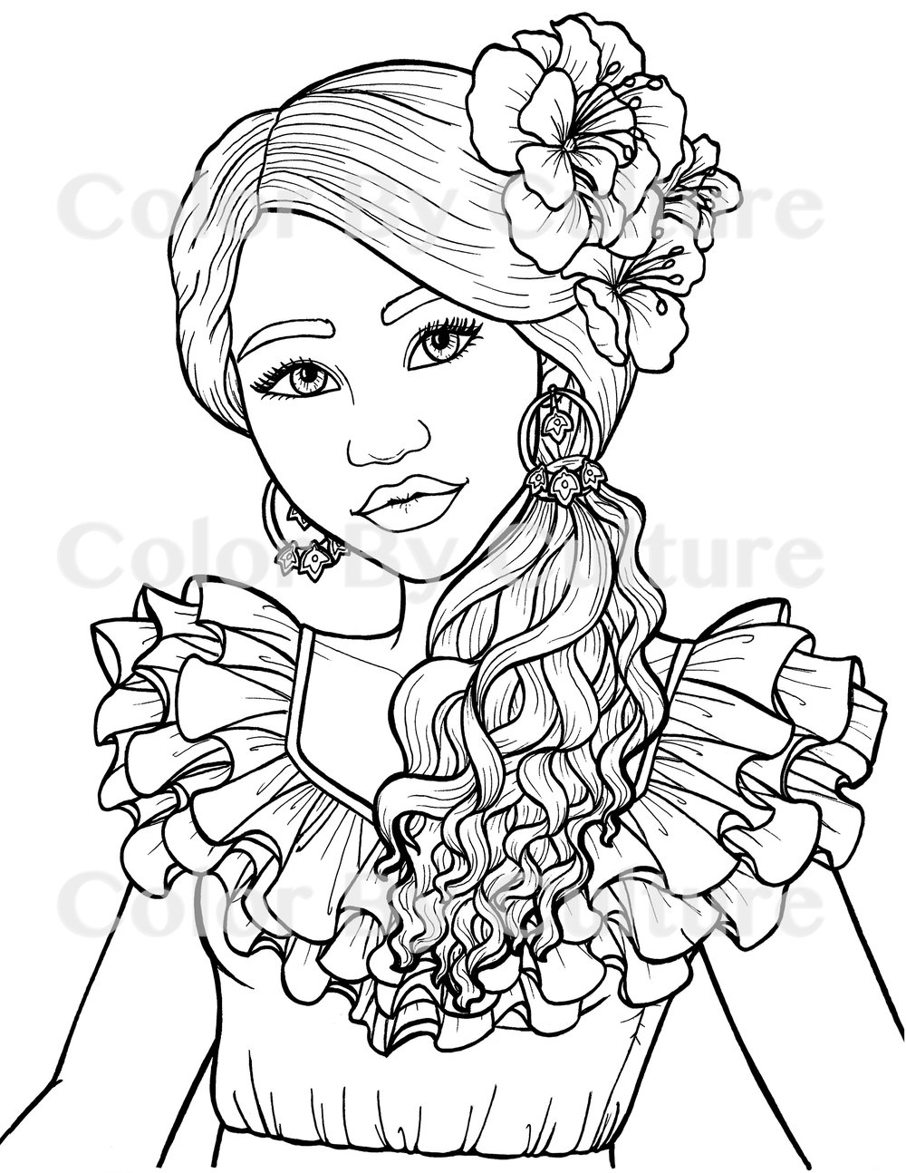 Printable Coloring Book South American Fashions Color By Culture