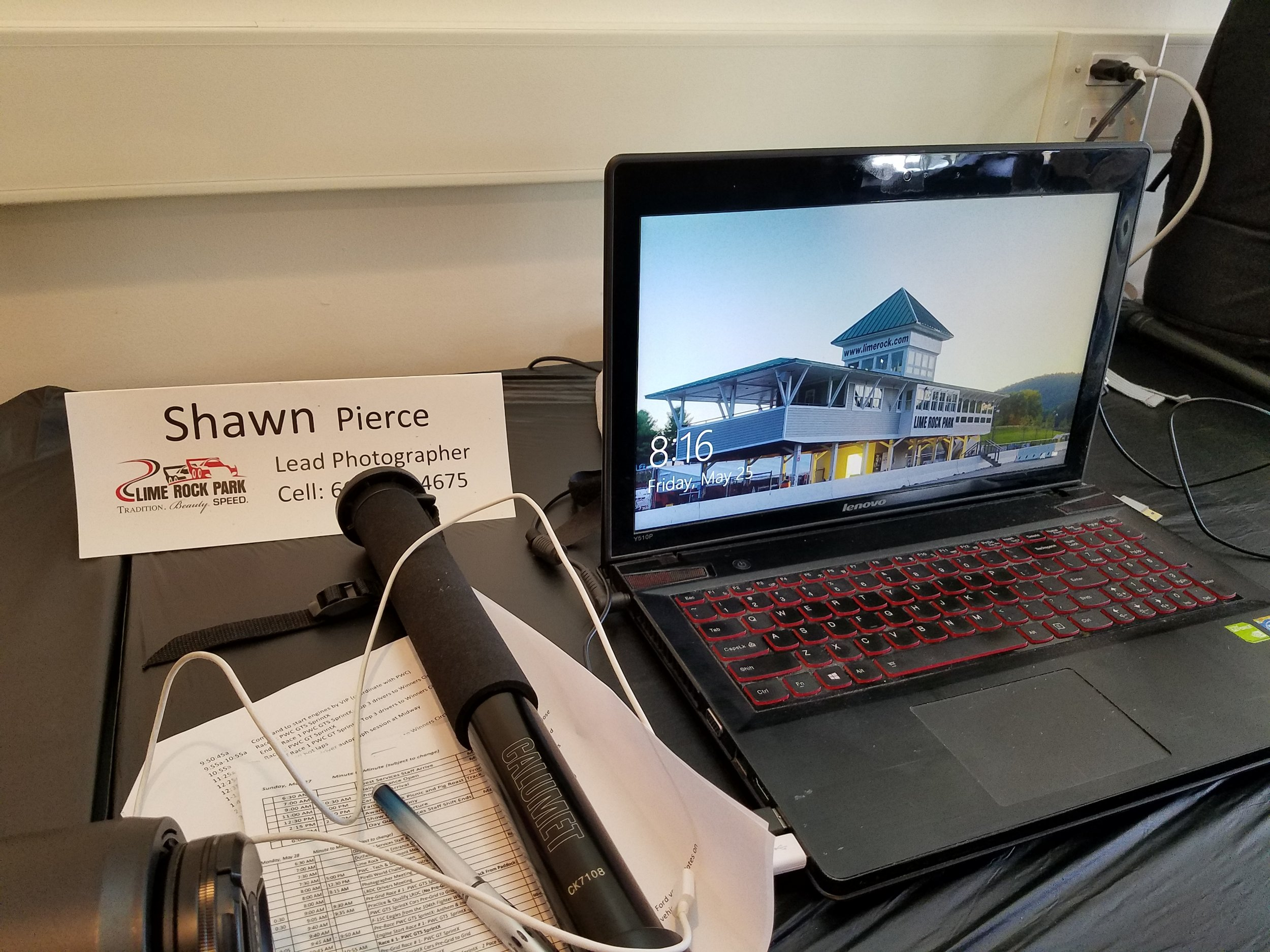 My home base in the media center for the weekend.