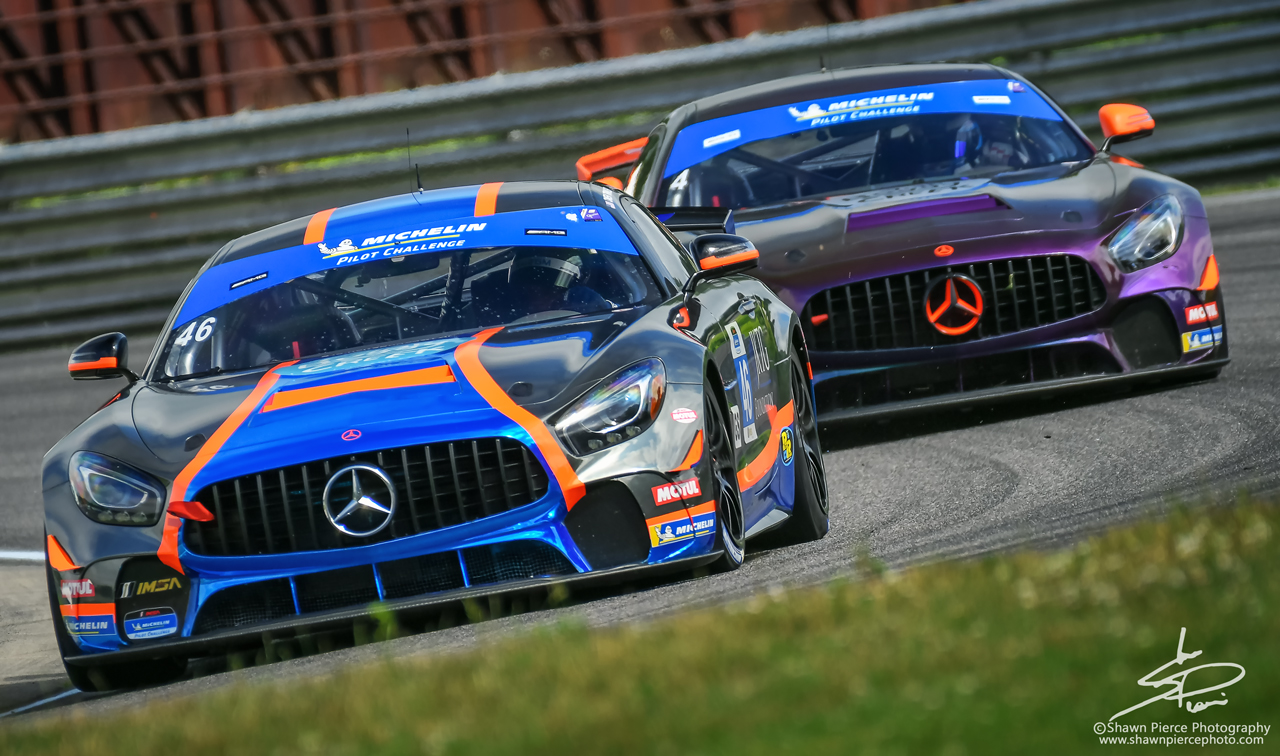 GS winner: no.46 Team TGM  Mercedes AMG GT4 driven by: Hugh Pumb and Owen Trinkler.