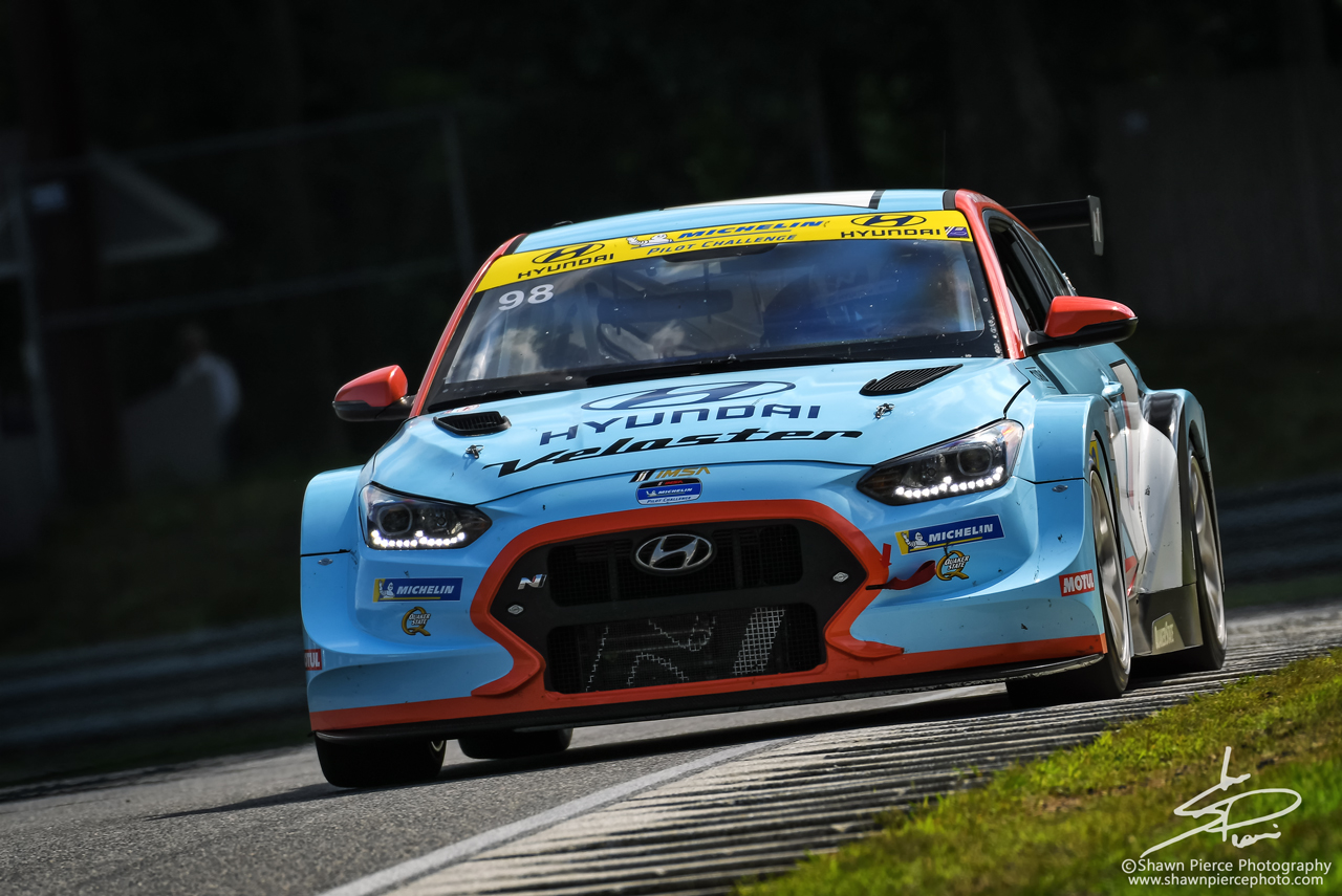 TCR Winner: no.98 Bryan Herta Racing Hyundai Veloster N TCR driven by Mark Wilkins and Michael Lewis.