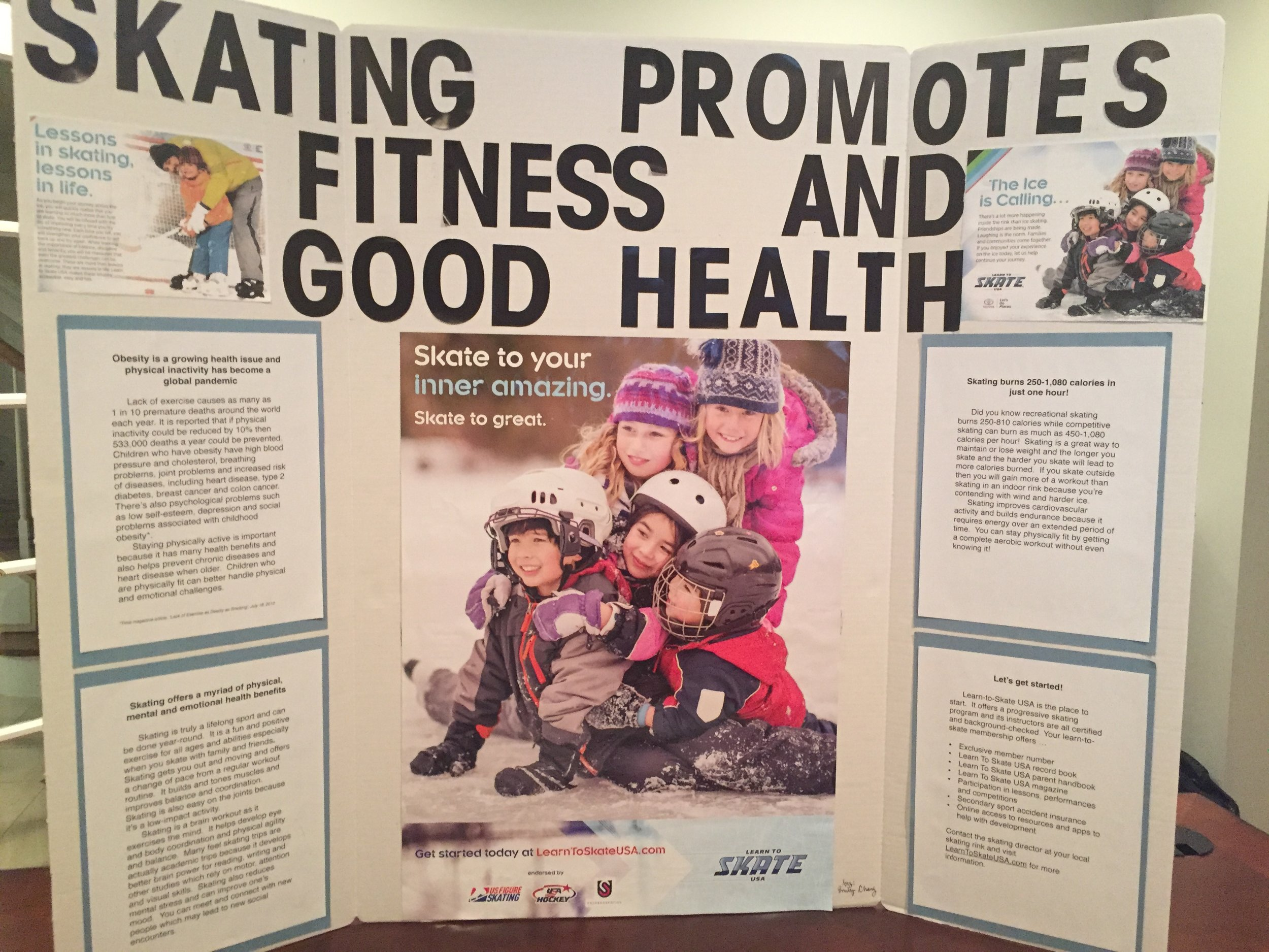 My poster board presentation on health benefits of skating