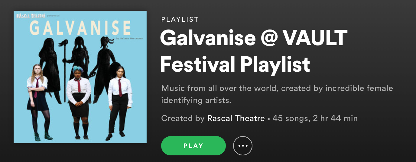 Listen to the official Galvanise playlist here!