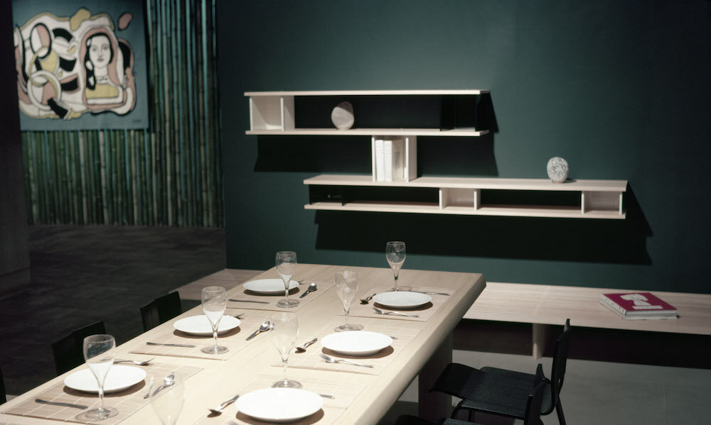 Charlotte Perriand Dining Room & Ombre Chairs