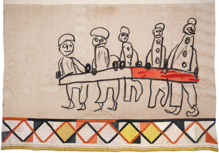 Child tapestry by Saburo Hasegawa