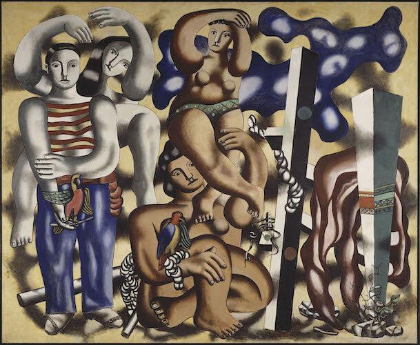 Composition aux deux perroquets, Fernand Léger, 1939