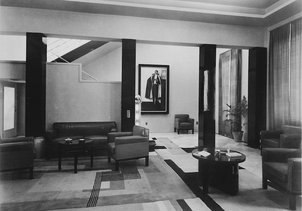 Manik Bagh Palace Entrance Hall, Eckart Muthesius, 1933