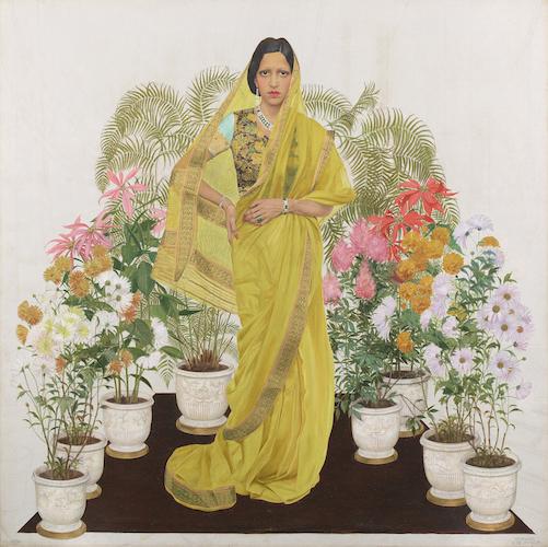 Maharani of Indore, Bernard Boutet de Monvel, 1933-1934