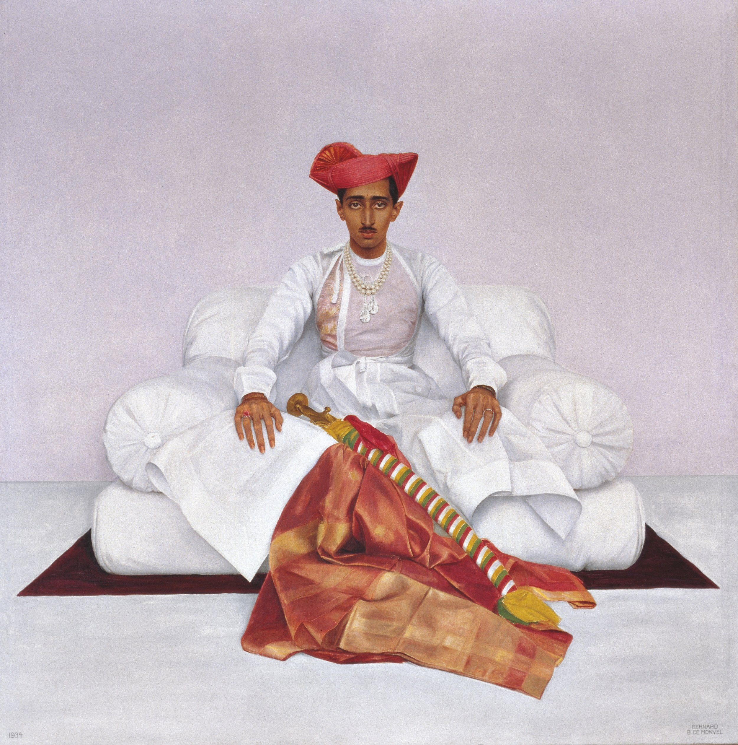 Maharajah of Indore, Bernard Boutet de Monvel, 1933-1934